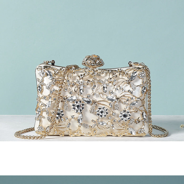 Glitter Sparkly Sequins Bling Beaded Peal Rhinestone Queen's Handbag