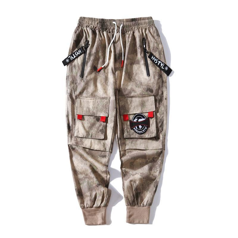 Japanese Beam Feet Loose Hip Hop Oversize Camouflage Long Pants