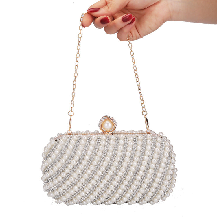 Glitter Sparkly Sequins Bling Fashionable pearl lady handbag