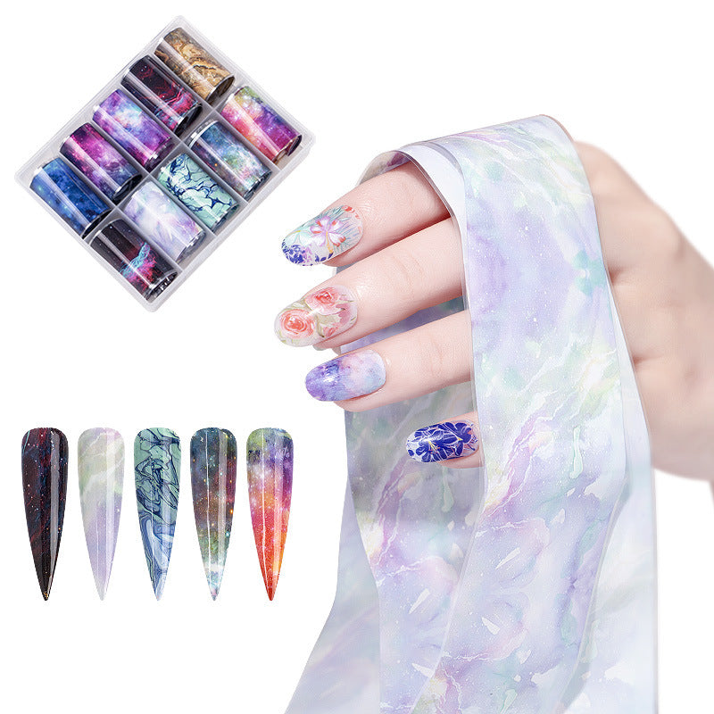 Sparkly 10 star nail stickers mixed with 4cm box Makeup Decorations