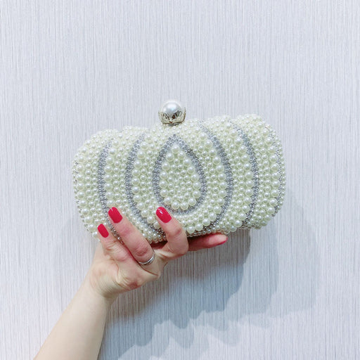Pearl Bag Chain Bag Banquet Clutch