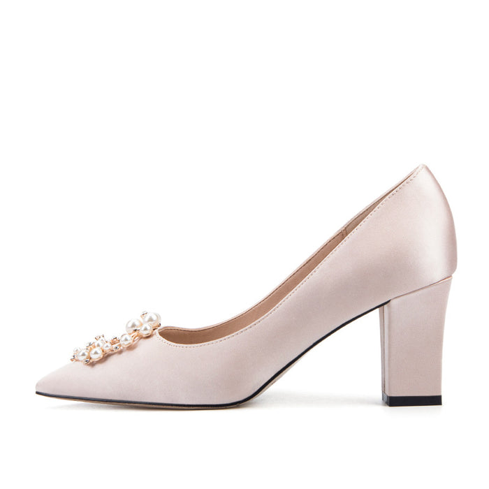 Glitter Heels  -Chunky ,Pearl,Pointed,Silk