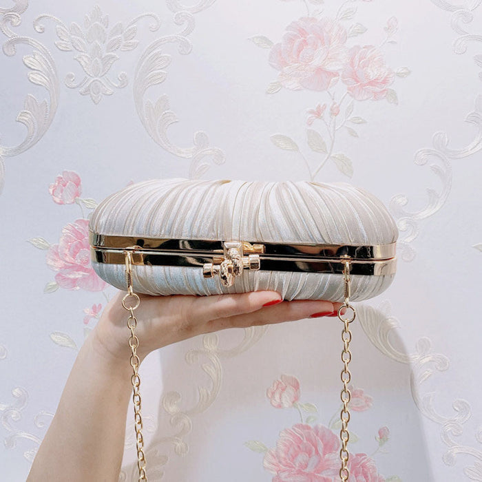 Pleated clutch dress banquet evening bag