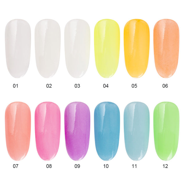 Sparkly 12 colors fluorescent nail powder Makeup Decorations