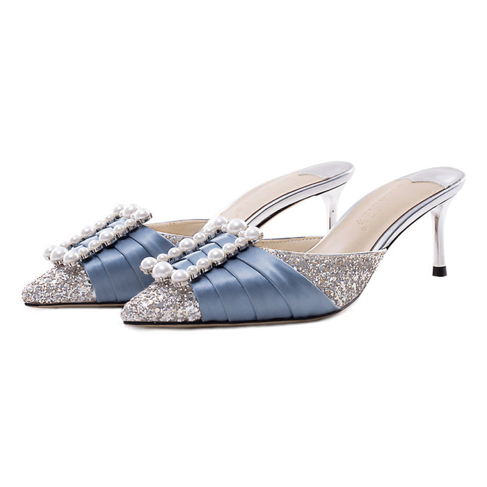 Glitter Sandals  -Fairy square button Sequin