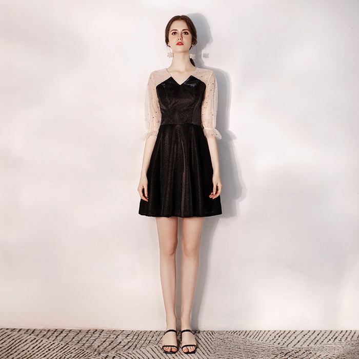 Banquet black french dress