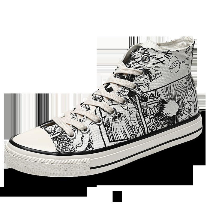 Japanese anime high-top male One Piece casual all-match graffiti sneakers