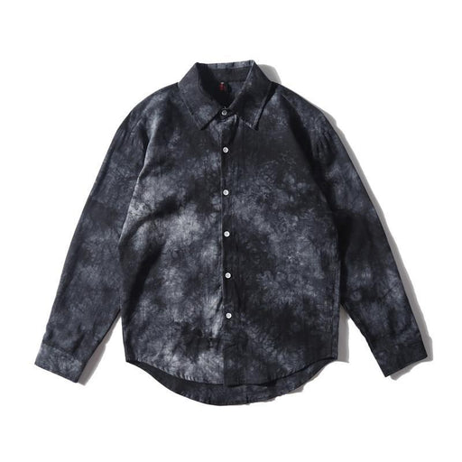 Japanese Street Foreign Trade Trends Summer Thin Fashion Print Long Sleeve Shirt