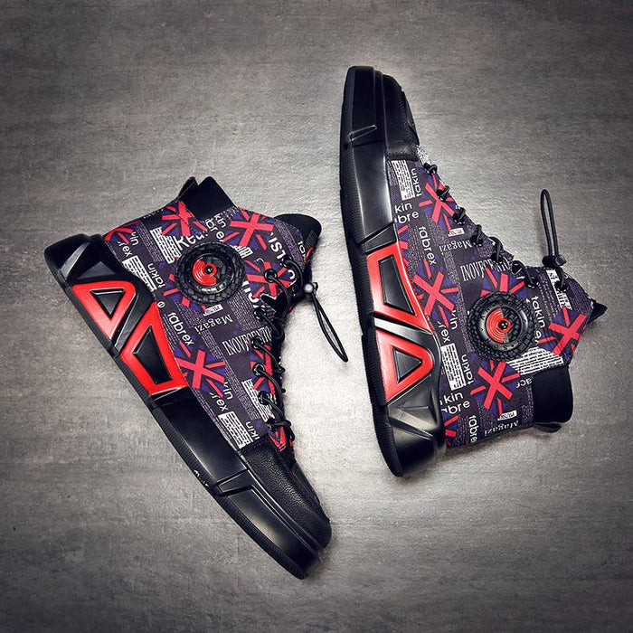 Japanese men's street cool hip-hop air force one high-top shoes