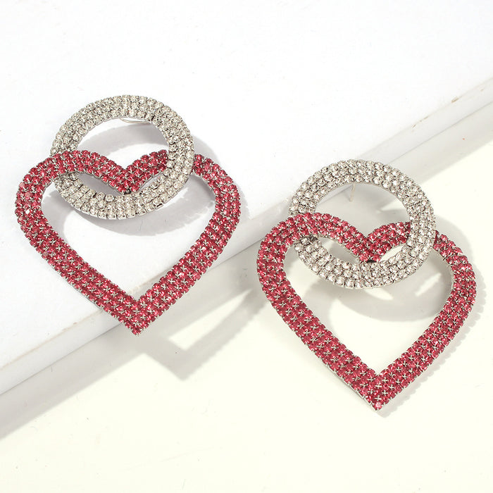 Wind Round Love Interlocking Diamond Earr