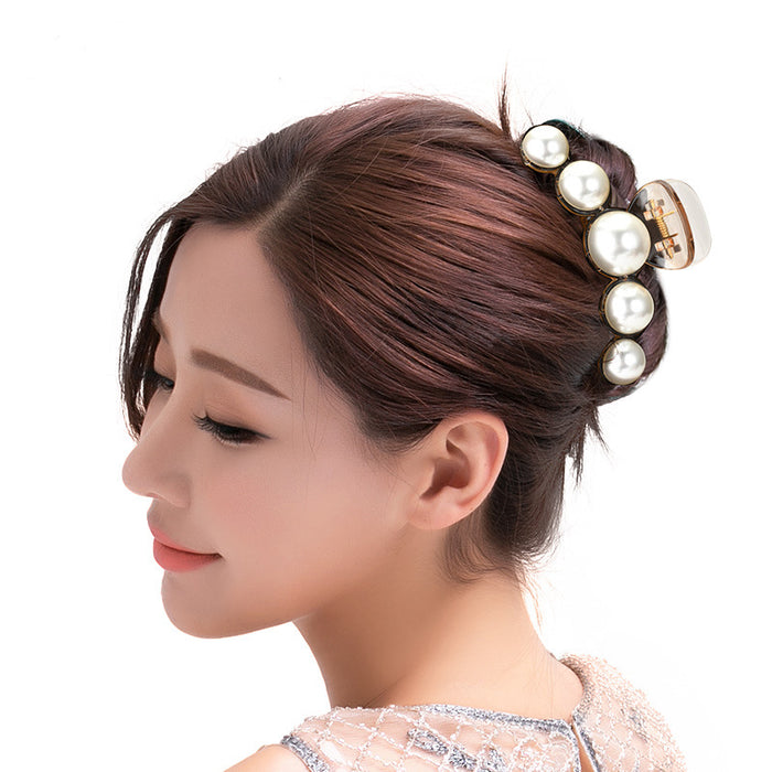 Glitter Sparkly Sequins Bling Temperament Pearl hair clips at the back of the head