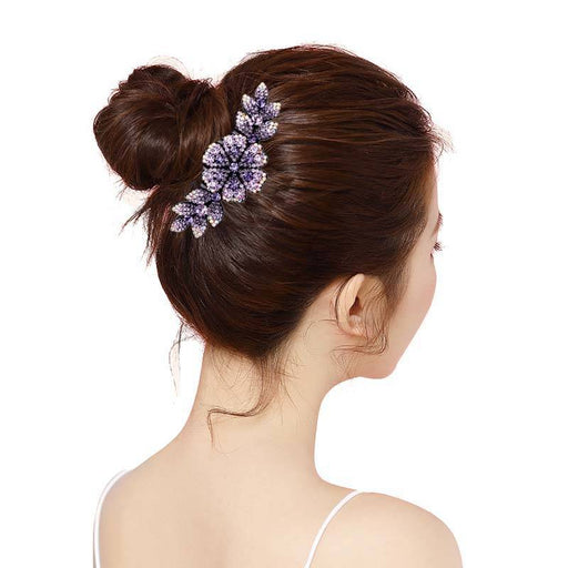 Glitter Sparkly Sequins Bling Luxury full of diamond and violet Hair Clip