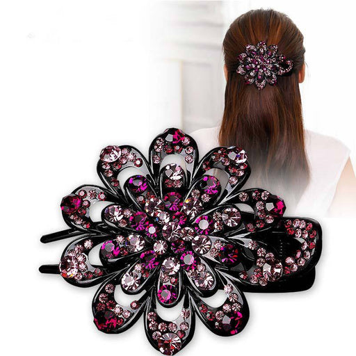 Glitter Sparkly Sequins Bling Beaded Peal Rhinestone Hair Clip