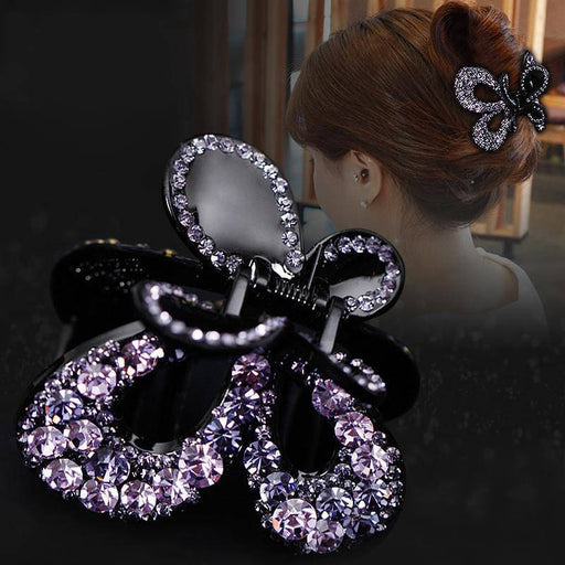 Glitter Sparkly Sequins Bling Diamond-studded butterfly spring Hair Clip