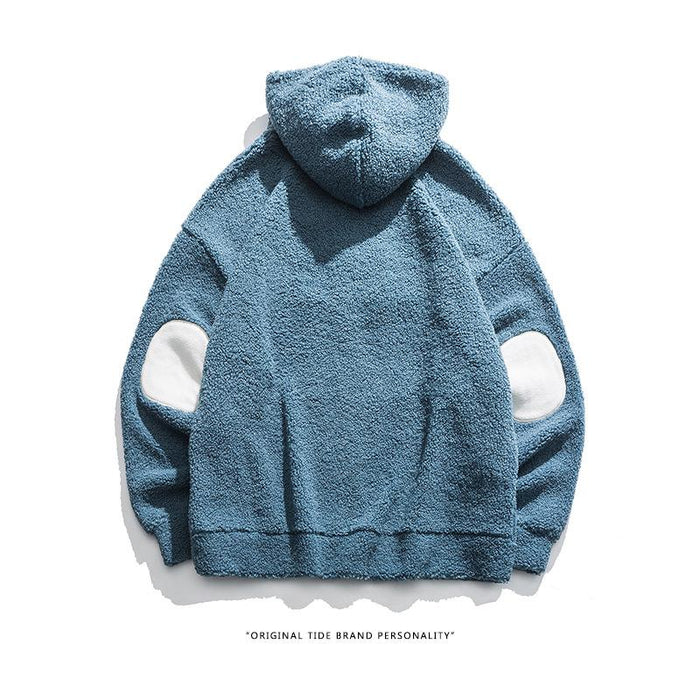 Kokoakeiko Rapper Plush blue hooded Sweater