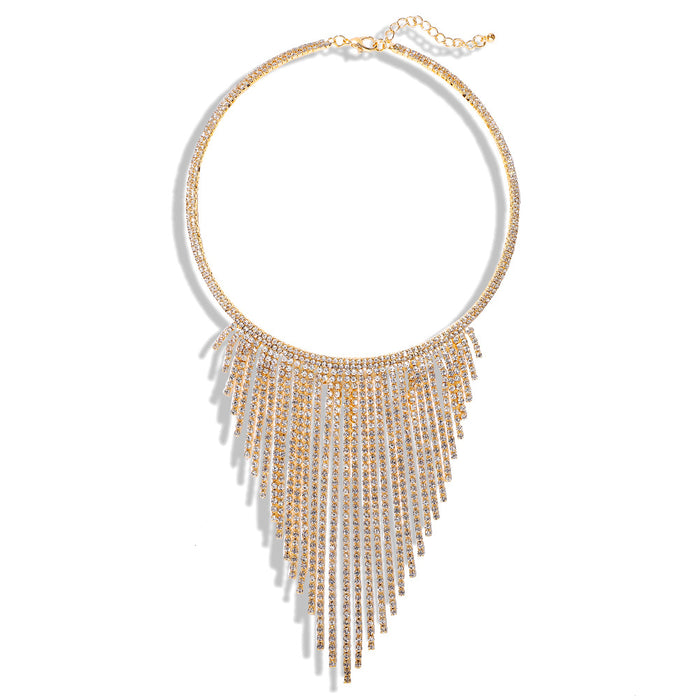 Sparkly Glitter Dazzling Diamond fringed necklace