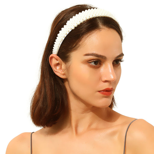 Sparkly Aesthetic pearl temperament bride headband