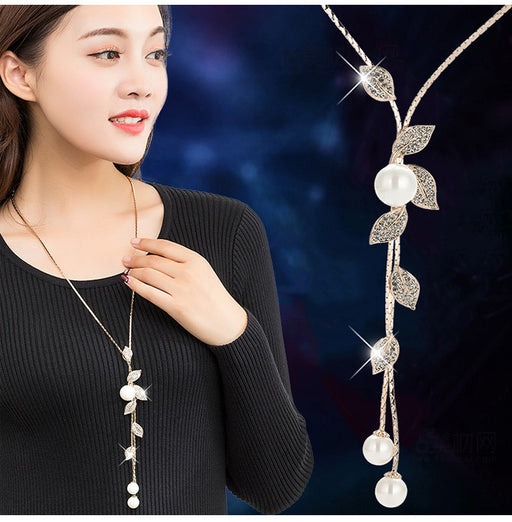 The individual leaf rises successively the pearl sparkly choker