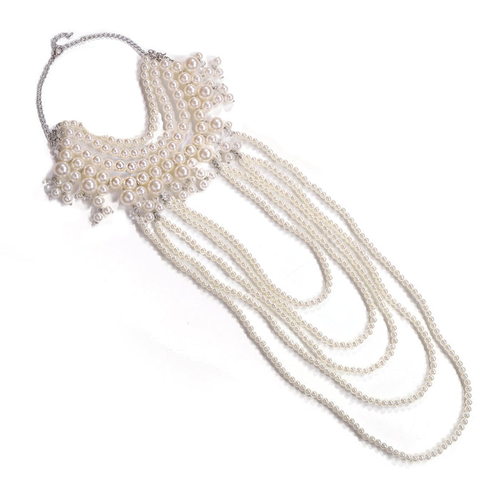 Glitter Sparkly Sequins Bling Bohemian fashion fringe wedding pearl body chain