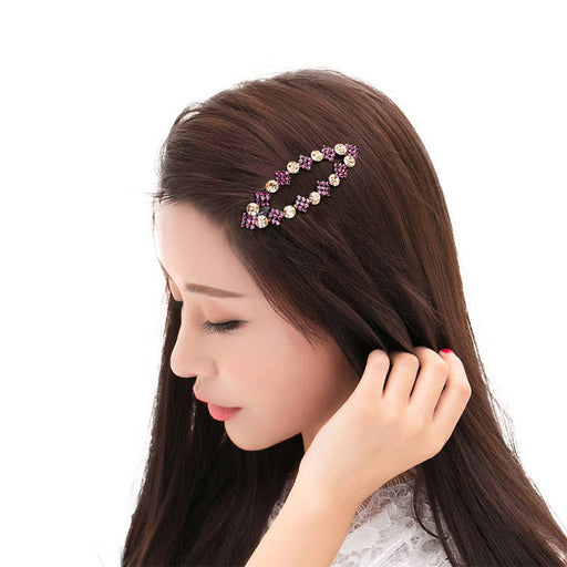 Glitter Sparkly Sequins Bling Temperament color diamond side Hair Clip