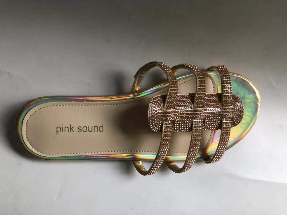 Sparkly sandals for women