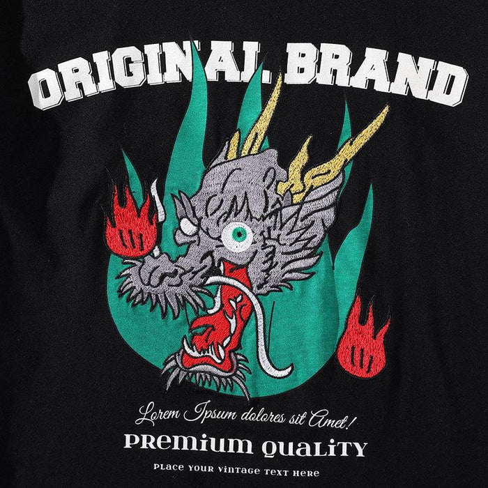 Japanese Sukajan Dragon head T-shirt