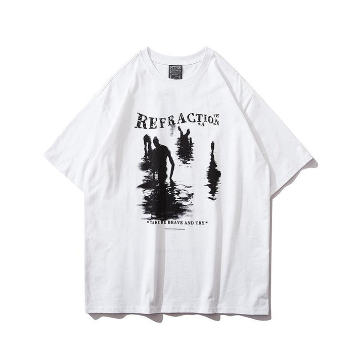 Grunge Hip-hop loose T-shirts