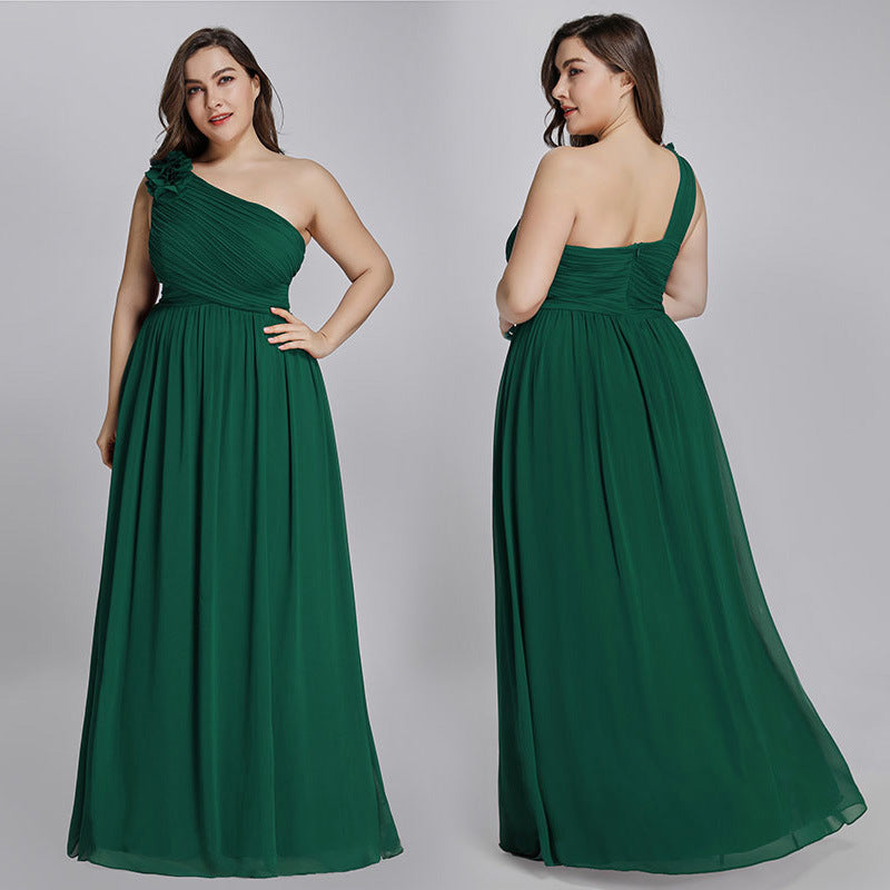 Sisters bandeau green evening dress