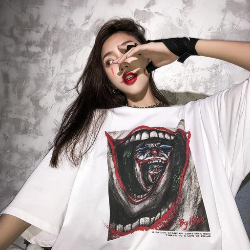 Grunge Instagram high street original hip-hop loose clown print T-shirts
