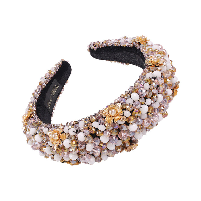 Sparkly Royal court gorgeous fashion crystal beaded cloth headband