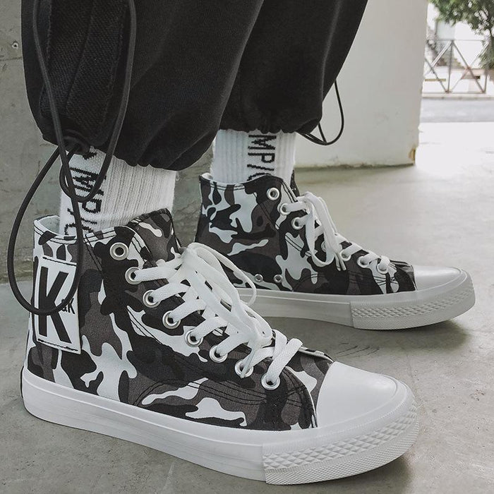 Japan Converse all-match flow camouflage color high-top canvas shoes