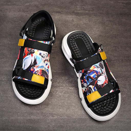 Japanese man street outdoor anime sandals
