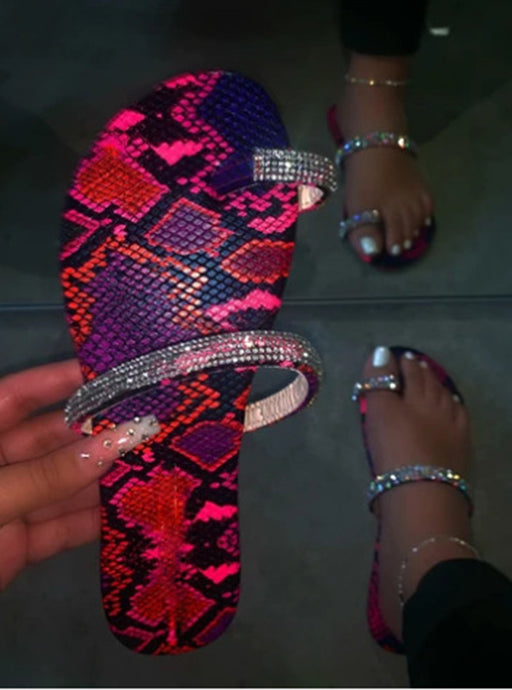 Sparkly girl's diamond flat sandals