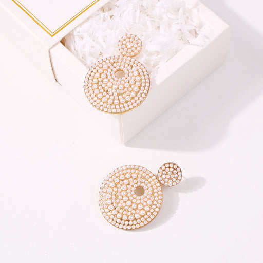 Baroque pearl round earrings