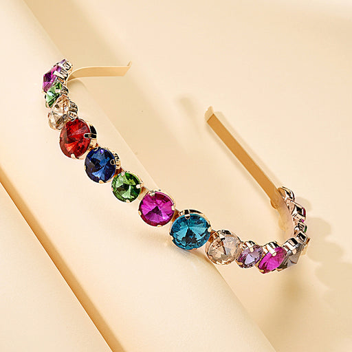 Sparkly Creative alloy inlaid diamond baroque color drill texture temperament headband