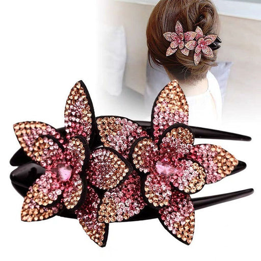 Glitter Sparkly Sequins Bling Diamond flower duck bill elegant dovetail Hair Clip