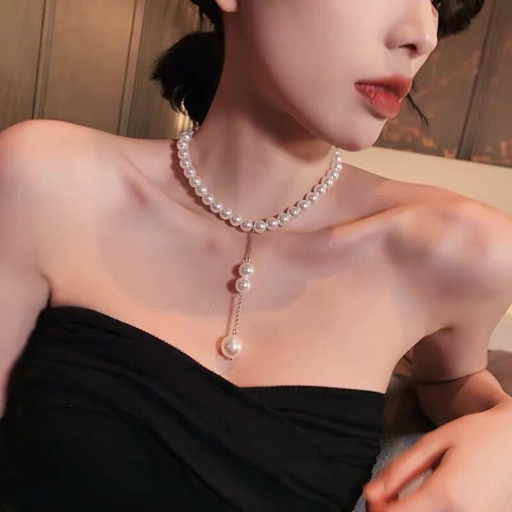 Pearl Pendant Clavicle Chain Necklace