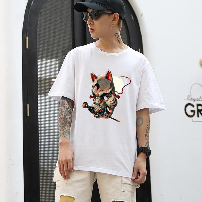Japanese Personalized cartoon trend summer short sleeve