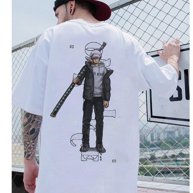 Japanese  Anime One Piece T-shirt loose trendy clothes