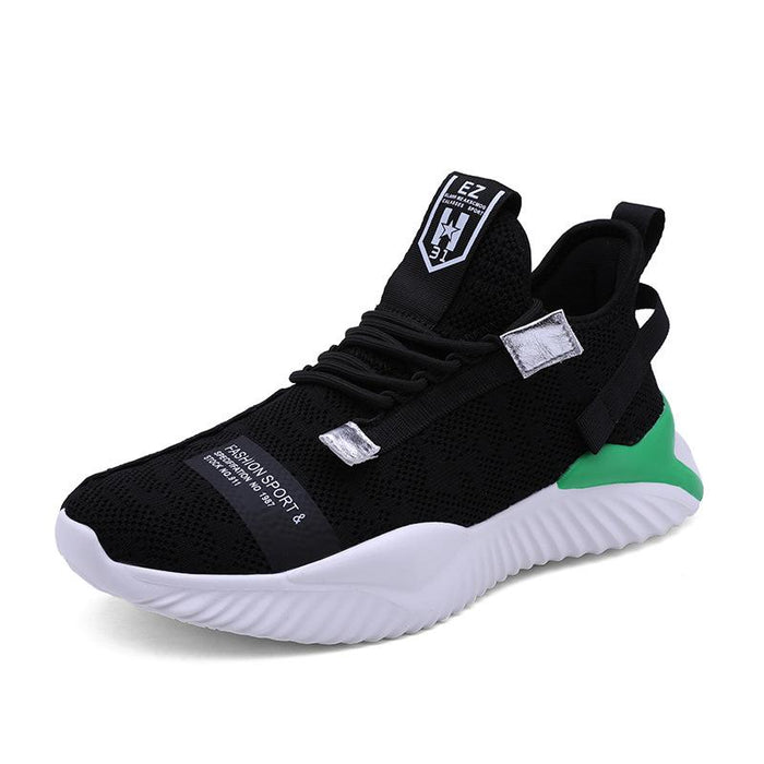 Japanese Trendy Men's Hollow Flying Woven Sneakers