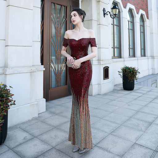 Night Club  Dazzling  One-shoulder evening dress
