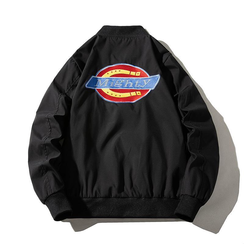 Baseball uniform embroidered bomber jacket