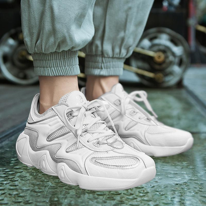 Japanese Anime Outdoor thick bottom casual sports running white shoes