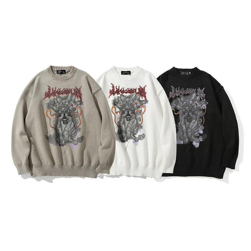 Japanese trendy male hip-hop all-match high-quality loose sweater