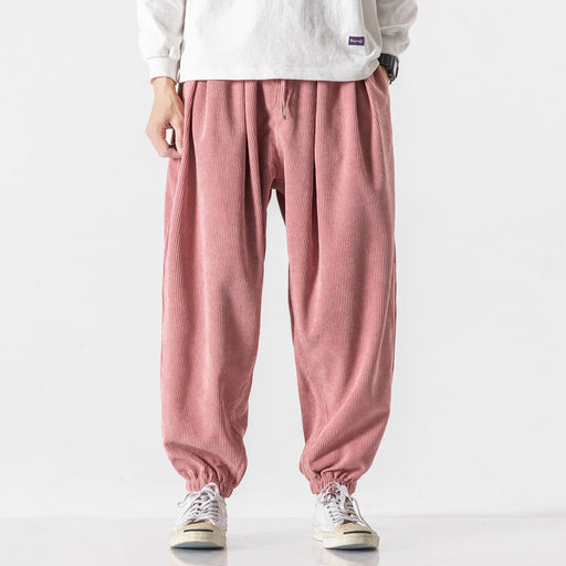 Japanese retro all-match corduroy wide-leg pants