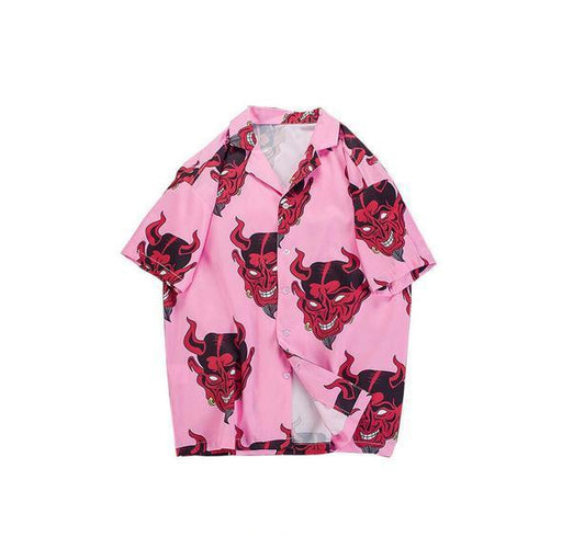 VS3 Harajuku Devil Print Shirt
