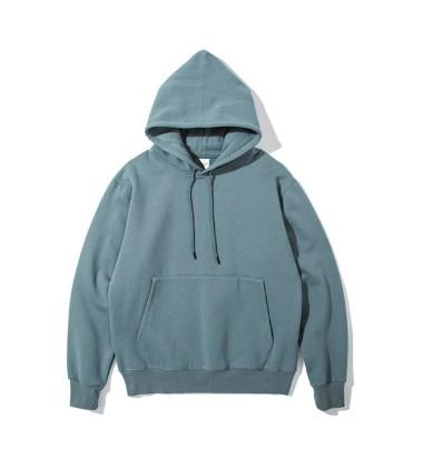 Solid Color Plus Velvet Thickening Oversize Off Shoulder Japanese Street Hoodie