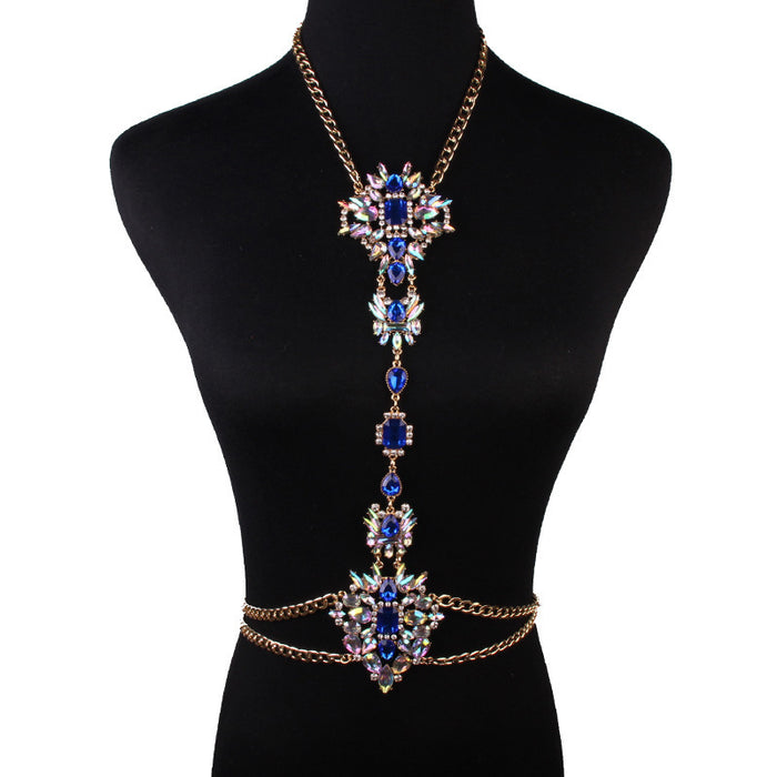 Glitter Sparkly Sequins Bling Fashion diamond-studded simple body chain