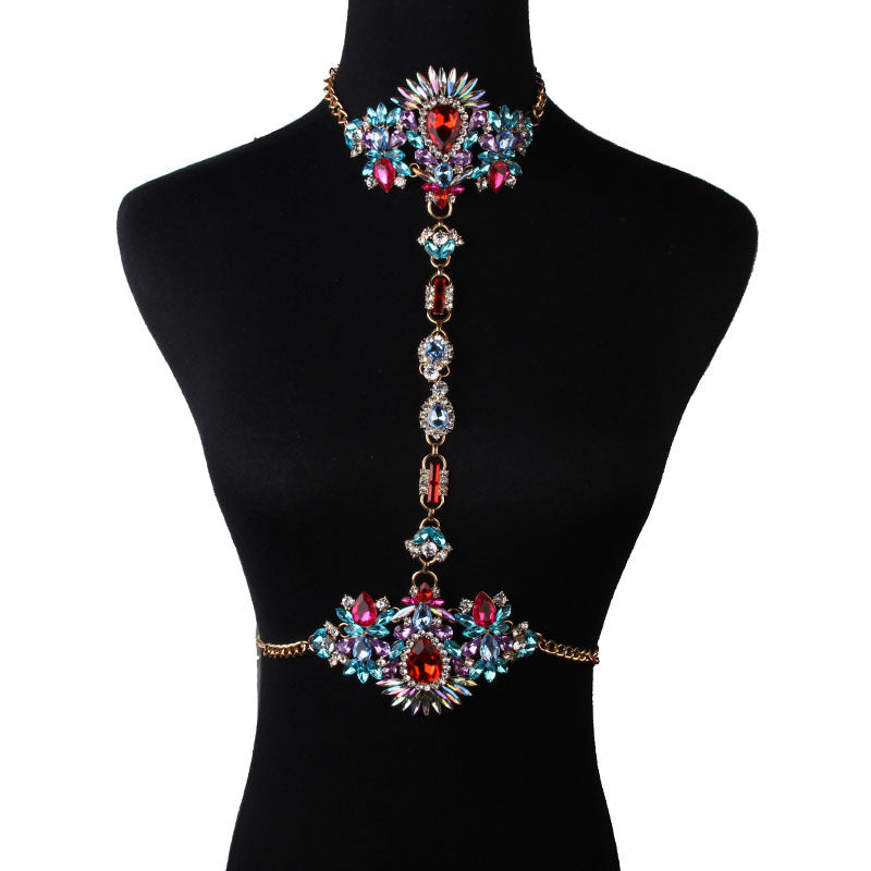 Glitter Sparkly Sequins Bling Beaded Peal Rhinestone Tassel Belly Chain
