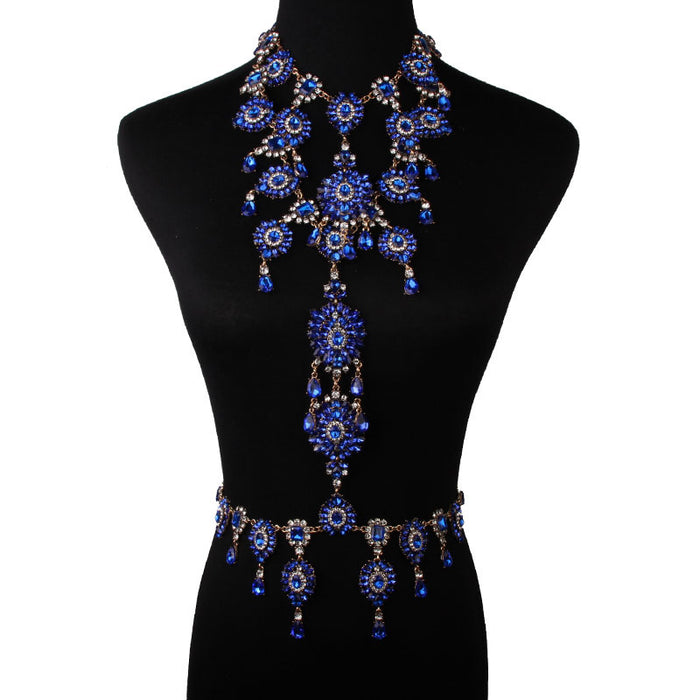 Glitter Sparkly Sequins Bling Colour alloy with diamond body chain
